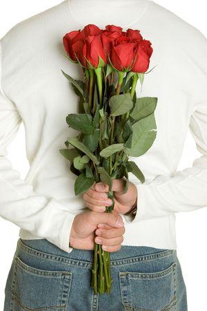 Man Holding Roses Stock Photo - 2413919