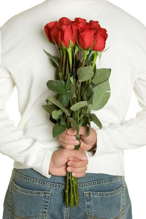 Man Holding Roses Stock Photo - 2413919