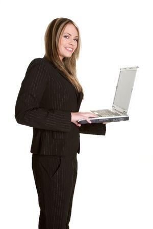 Laptop Businesswoman Stock Photo - 2418891