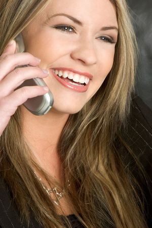 Laughing Phone Woman Stock Photo - 2413920