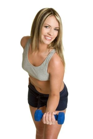 Smiling Girl With Weight Stock Photo - 2416955