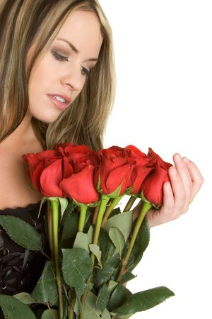 Woman With Roses Stock Photo - 2444546