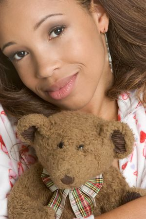 Teddy Bear Girl Stock Photo - 2441610