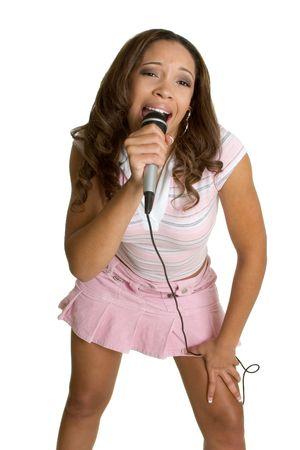 Singing African American Stock Photo