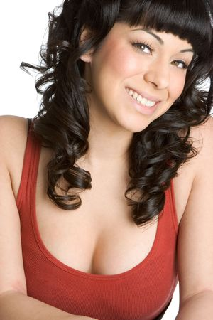 Smiling Pin Up Girl photo