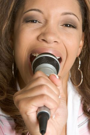 Singing Teen Stock Photo