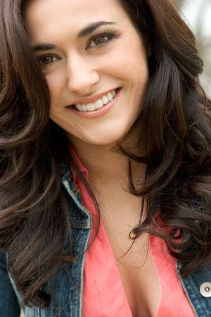 denim jacket: Pretty Girl Smiling