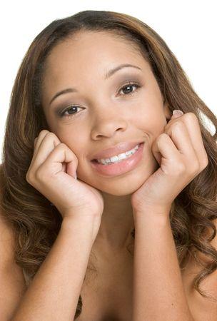 Mujer Americana Africana Sonriente Foto de archivo - 2534115
