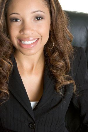 Smiling Black Woman Stock Photo - 2534114