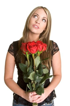 Woman With Roses Stock Photo - 2534096