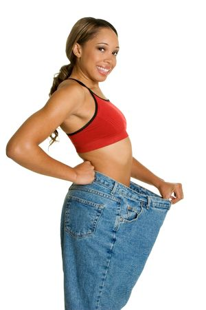Big Weight Loss Stock Photo