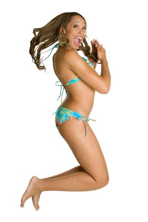 Jumping Swimsuit Girl photo