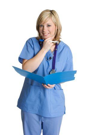 Nurse With File Stock Photo - 2544844