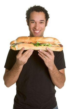 sub sandwich: Man With Sandwich
