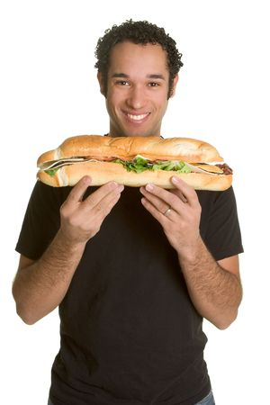 adult sandwich: Man With Sandwich
