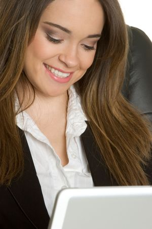 Laptop Businesswoman Smiling photo