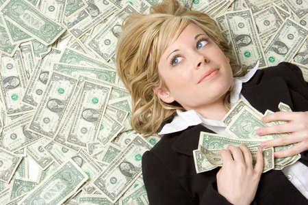 stack of money: Money Woman