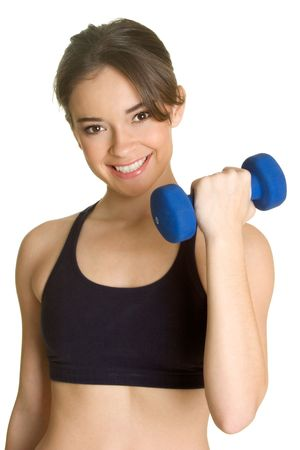 woman lifting weights: Work Out Woman