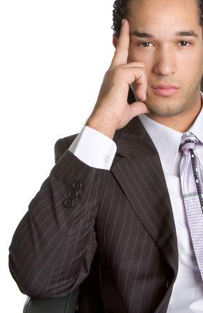 Thinking Businessman photo