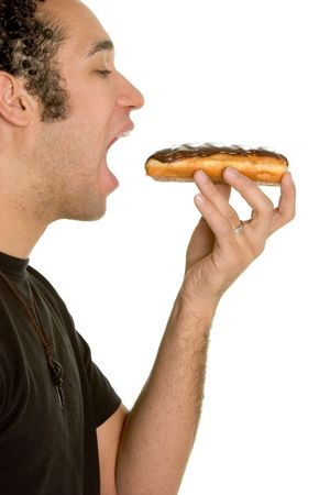 Man Eating Doughnut Stock Photo - 2658165