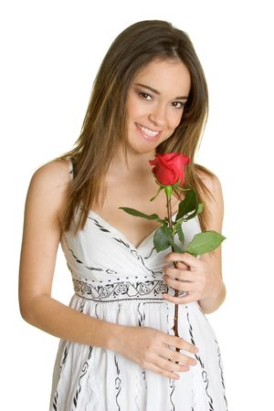 Woman With Rose Stock Photo - 2658260
