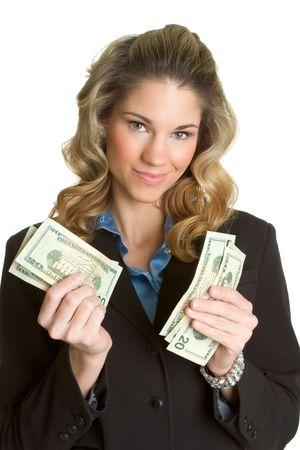 Businesswoman With Money Stock Photo - 2658261