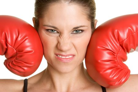 Boxing Gloves Woman Stock Photo - 2736796