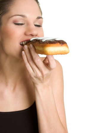 Woman Eating Donut Stock Photo - 2736772