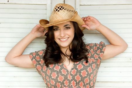 Smiling Cowgirl photo