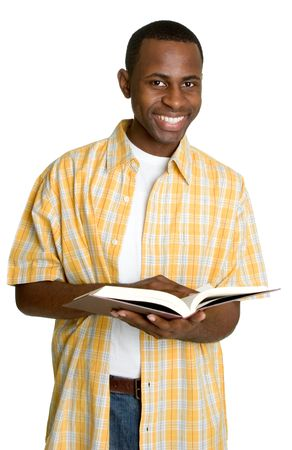 Smiling Man With Book photo