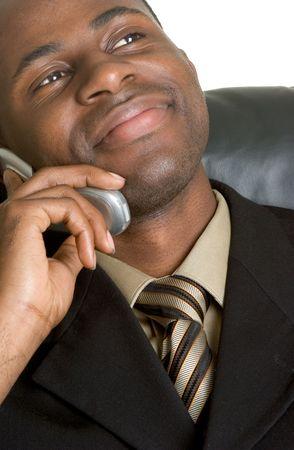 Businessman on Phone Stock Photo - 2729767