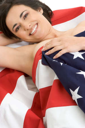 Beautiful Flag Woman Stock Photo - 2966680