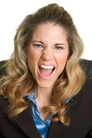 Businesswoman Yelling Stock Photo