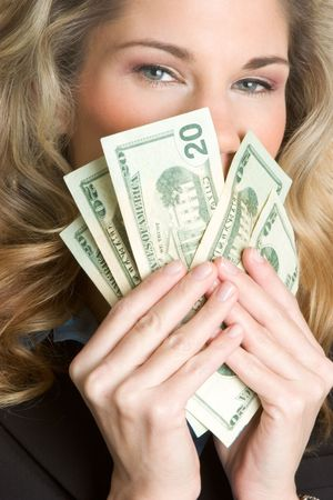 Woman With Money Stock Photo - 2747073