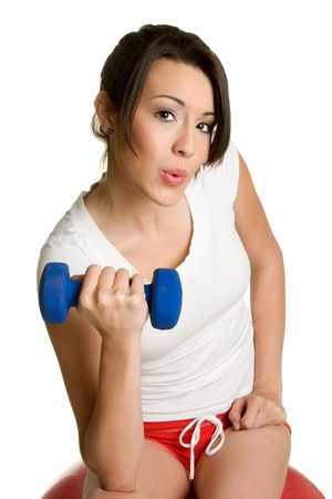 Girl Working Out photo