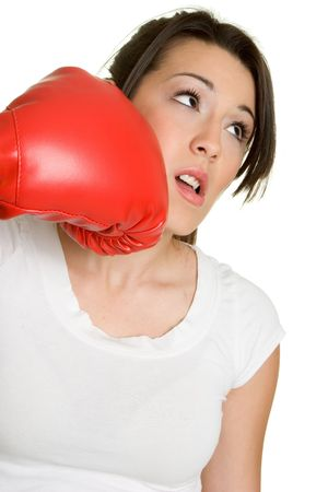knock out: Knock Out Girl Stock Photo