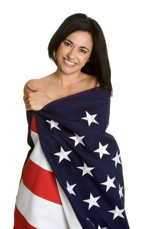 Patriotic Woman Stock Photo - 2747053