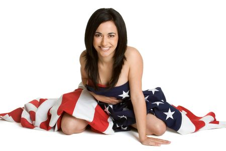 Woman in Flag Stock Photo - 2747048