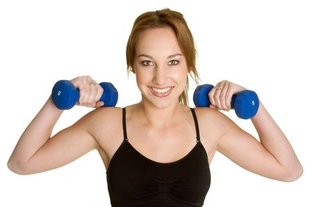 Girl Lifting Weights photo