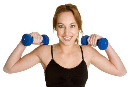 Girl Lifting Weights photo