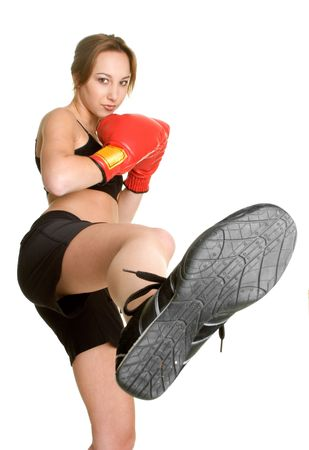 female kick: Kick Boxing Teen