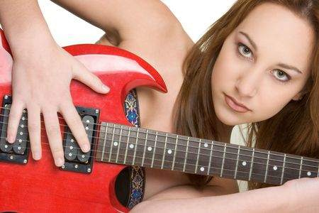 Teen Girl With Guitar Stock Photo - 2966689