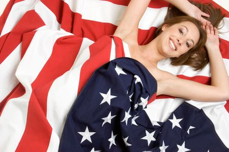 Flag Woman Stock Photo - 2966690