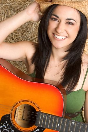 Beautiful Guitar Girl photo