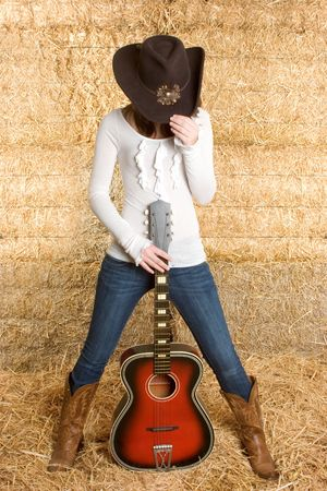 country music: Countrymusik-Stern Lizenzfreie Bilder