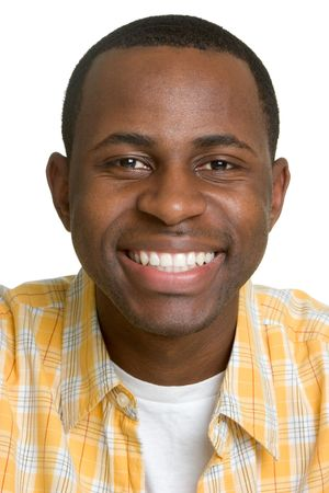 Grinning African American Man Stock Photo