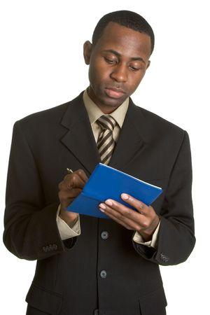 Man Writing Checks Zdjęcie Seryjne