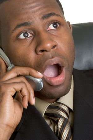 Shocked Businessman Stock Photo - 2796199