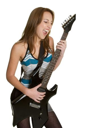 rockstars: Teen Rocking Out Stock Photo