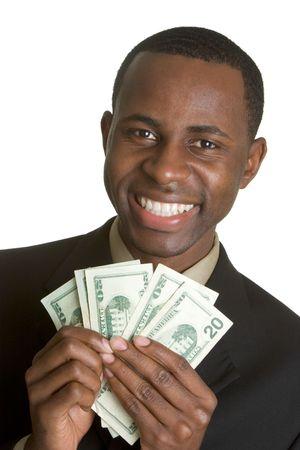 cash in hand: Hombre Del Dinero